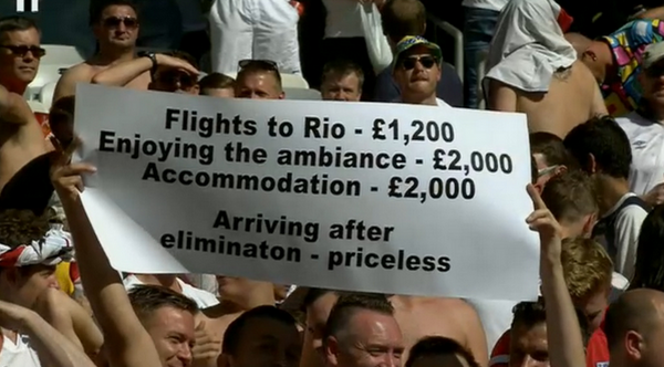 england fans funny banner.